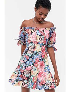 keepsake-runaway-off-the-shoulder-mini-dress by keepsake