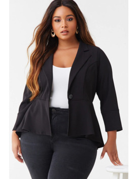 plus-size-flounce-blazer by forever-21