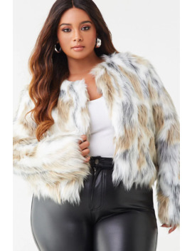 plus-size-shaggy-faux-fur-coat by forever-21
