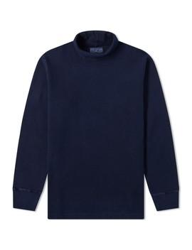 blue-blue-japan-long-sleeve-roll-neck-tee by blue-blue-japan