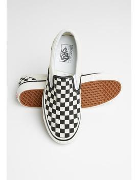 anaheim-ua-classic-slip-on-98-dx---checkerboard-black-&-white by vans
