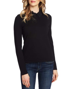 embellished-collar-sweater by cece