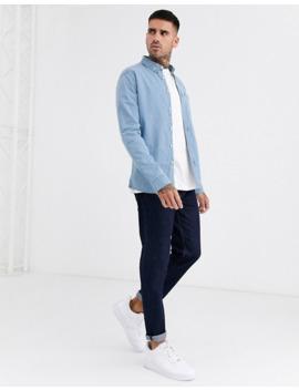 asos-design-stretch-slim-organic-denim-shirt-in-light-wash by asos-design