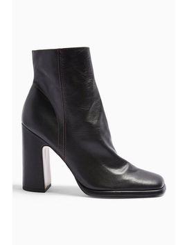 holden-leather-black-platform-boots by topshop