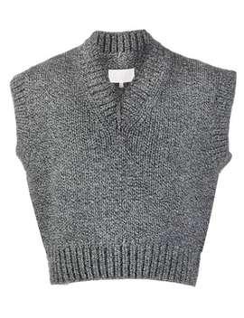 cropped-sleeveless-sweater by maison-margiela