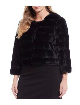 plus-size-faux-fur-jacket by calvin-klein