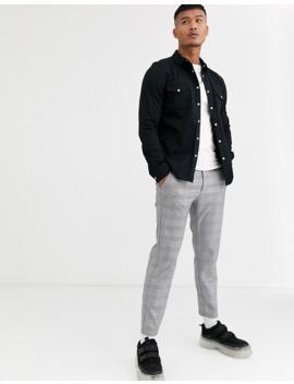asos-design-skinny-fit-western-organic-denim-shirt-in-black by asos-design