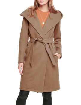 hooded-wrap-coat by only