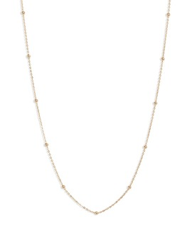 14k-gold-ball-bead-chain-necklace by bony-levy