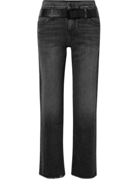dexter-belted-frayed-high-rise-straight-leg-jeans by rta