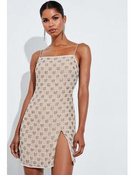 peace-+-love-silver-square-neck-embellished-cowl-neck-mini-dress by missguided
