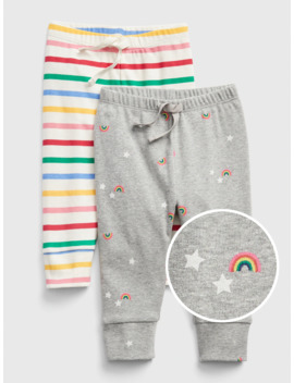 baby-rainbow-pull-on-pants-(2-pack) by gap