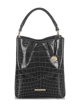 veil-collection-amelia-embossed-leather-bucket-bag by brahmin