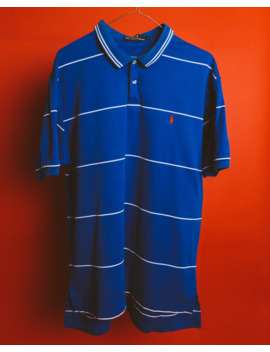 striped-blue-white-polo-shirt by polo-ralph-lauren  ×