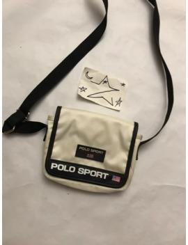 polo-sport-shoulder-bag-white-magnetic-closure-vtg by ralph-lauren  ×  polo-ralph-lauren  ×  vintage  ×