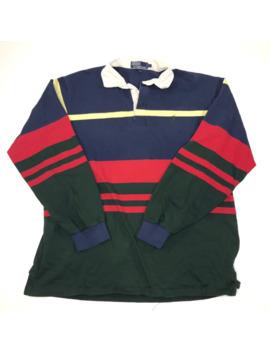vintage-90's-polo-ralph-lauren-striped-colorblock-rugby by ralph-lauren  ×  polo-ralph-lauren  ×  vintage  ×
