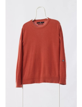 a1174m---vintage-mens-stone-island-denims-sweater-jumper-orange-knit-knitted-size-s by stone-island  ×  vintage  ×