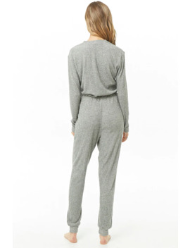 marled-jogger-jumpsuit by forever-21