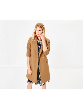 london-button-coat by oasis
