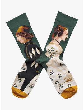 bonne-maison-king-and-queen-print-ankle-socks,-green_multi by bonne-maison