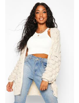 bobble-knit-cardigan by boohoo