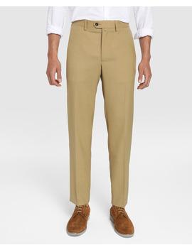 pantalón-de-vestir-de-hombre-dustin-regular-beige by dustin