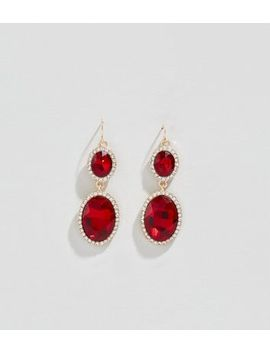 burgundy-gem-drop-earrings by new-look