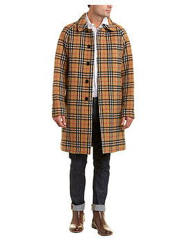 burberry-vintage-check-alpaca-&-wool-blend-car-coat by burberry