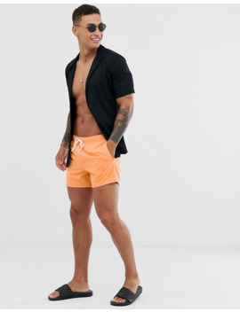 asos-design-swim-short-in-orange-in-short-length by asos-design