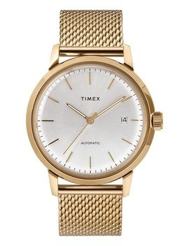 Marlin® Automatic 40mm Stainless Steel Mesh Band Watch by Timex