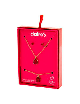 July Birthstone Jewellery Gift Set   Ruby, 3 Pack by Claire's