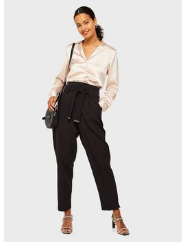 black-tie-waist-trousers by miss-selfridge