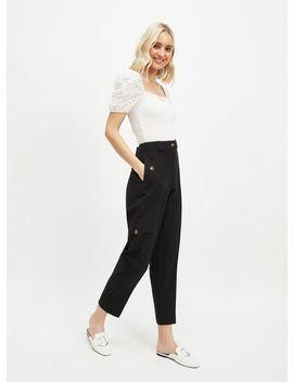black-utility-trousers by miss-selfridge
