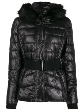 fur-collar-puffer-jacket by barbour