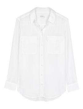 slim-signature-white-silk-shirt by equipment