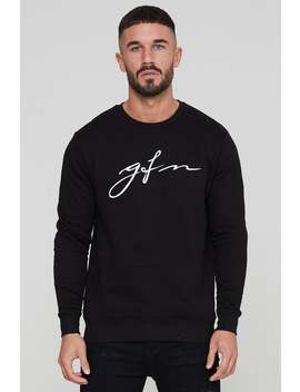Autograph Black Sweatshirt by Good For Nothing Mens