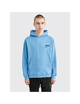 affix-basic-logo-hooded-sweatshirt-blue by très-bien