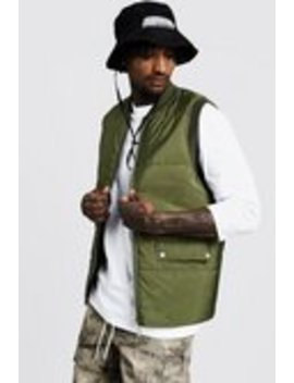 quilted-gilet-with-flap-pockets by boohooman