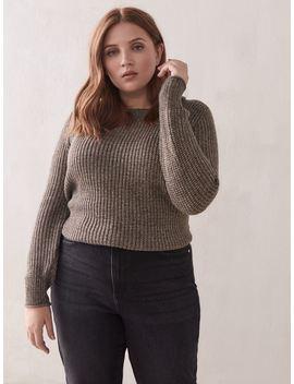 Crew Neck Shaker Stitch Sweater   Addition Elle Crew Neck Shaker Stitch Sweater   Addition Elle by Addition Elle