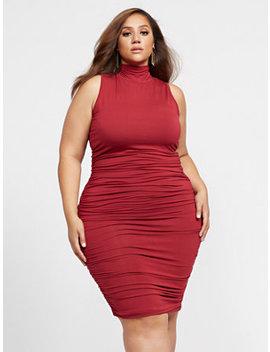 Priscilla Ruched Midi Dress by Fashion To Figure