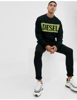 Черный-джемпер-с-неоновым-логотипом-diesel-k-logox-c by diesel