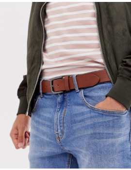 asos-design-faux-leather-wide-belt-in-brown-with-burnished-silver-buckle by asos-design