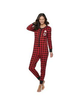 womens-jammies-for-your-families-cool-bear-one-piece-pajamas-by-cuddl-duds by jammies-for-your-families
