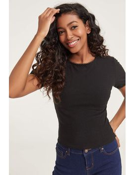 ribbed-tee-with-crochet-trim by ardene