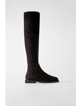 stretch-shaft-flat-boots by zara