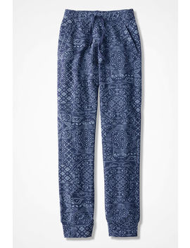 bandana-blues-jogger-pants by coldwater-creek