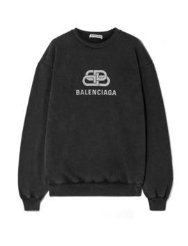 oversized-sweatshirt-aus-baumwoll-jersey-mit-print by balenciaga