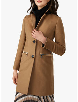 pure-collection-zip-detail-coat,-camel by pure-collection