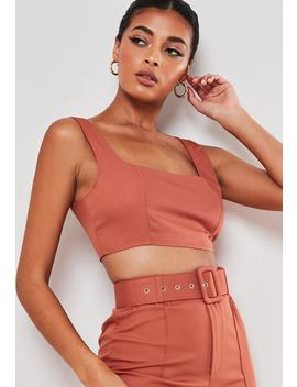 rust-co-ord-bralette by missguided
