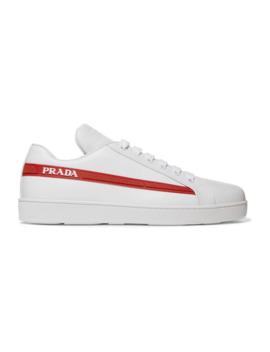 avenue-last-sneakers-aus-leder-mit-logodetails by prada
